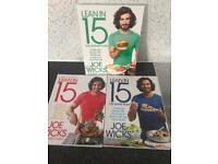 3 x joe wicks lean in 15 books (as new)