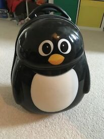 Penguin suitcase and rucksack