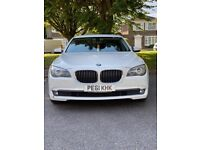BMW 730d 2993cc Turbo Diesel Automatic 4 door saloon 61 Plate 2011 White