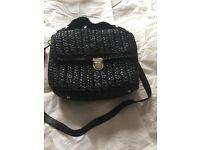 Betty Jackson Wicker Bag in black