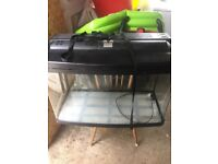 Fish tank 120 litres with led lights and air pump