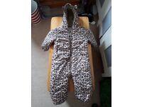 Leopard print snow suit 12 - 18 months from Next