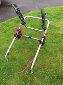 Halfords metal clamp high 3 bike cycle carrier