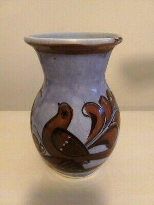 Midcentury Tonala Mexico Art Pottery Vase – Light Blue