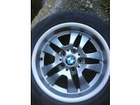 4 x alloy wheels and tyres for BMW E90