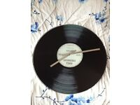 Vinyl Tap Glass Table / Wall Clock