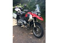 BMW R 1200 GS ,2010 (FACTORY LOWERED BIKE ) RED ,with full service history just serviced IMACULATE