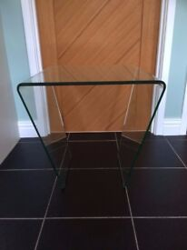 Glass side/end table, coffee table 50 cm x 50 cm John Lewis