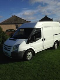 ford transit semi high top in white