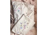 Primark butterfly single duvet cover and pillowcase