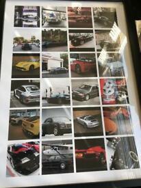 Various Car Posters/Wallart (20 items) ideal for car garage/showroom/workshop