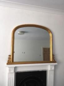 Large mantel wall mirror