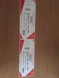2 x Coldplay Tickets - Cardiff (Free tracked Postage)