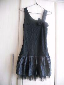 Black party dress size 8-10 by Cutie BNWT