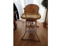 Graco yellow baby high chair