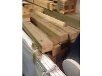 USED 90 X 90 TIMBER DRY GRADED 2 metre lengths x 5 pieces