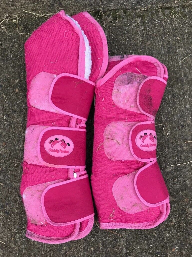 Pink Cuddly Ponies Travel Boots