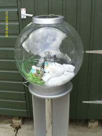 30 LITRE BIORB FISH TANK SILVER TOP AND BASE WITH MATCHING STAND