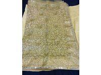 Indian Bollywood Bridal net Saree + blouse + petticoat
