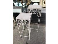 Pair Of Plant Stands / Side Tables