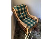 Conservatory / garden cane chair