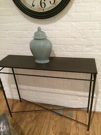 Metal Coffee Table & 2 Consoles