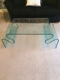 Glass Coffee Table with matching Side Table