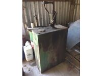 antique oil tank £50.00