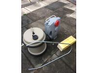 40 litre Aquaroll inc handle/wheel levelling wedges/waste water container