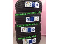 225 40 18 92W 4new tyre ,EXCELLENT WET GRIP-B,NOISE ONLY 69.4 NEW TYRES INCLUDING FITTING ONLY£13 5