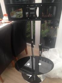 Tall Stainless Steel TV stand