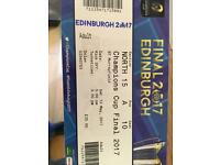 Champions Cup Final Ticket (Rugby) 13th May 2017 Edinburgh