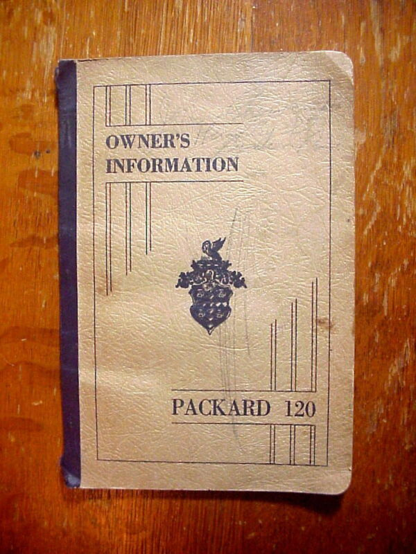 1936 PACKARD 120 Owner