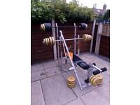 Weight bench and weights 60kg