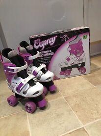 Osprey adjustable quad skates size 13-3