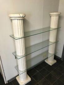 Roman pillar shelving unit
