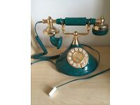 Green & Gold Old Fashioned / Vintage / Antique style House Phone