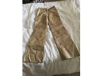 Brand new ladies cream leather trousers size 10