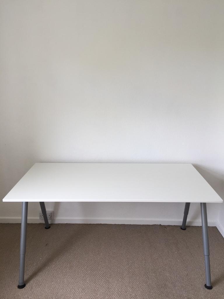 white minimalist ikea desk in leamington spa warwickshire gumtree