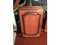 SOLD Solid Oak kitchen doors extractor, stools and draws