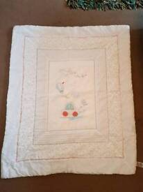 Little beep beep mothercare cot quilt