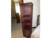 Tall Narrow Bookcase Dark Wood