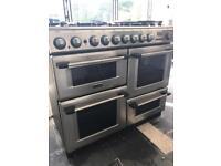 Stainless steel gas oven hob range rangemaster stoves