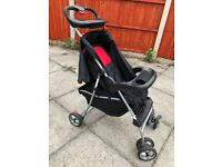 Pushchair with raincover