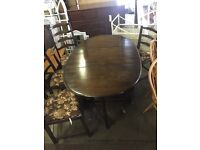 MID-CENTURY ERCOL DINING TABLE WITH FOLDING LEAF