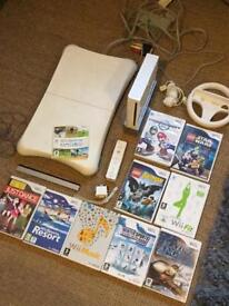 Nintendo Wii Console With Balance Board And 10 Games