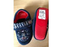 New size 11 & 12 boys new slippers