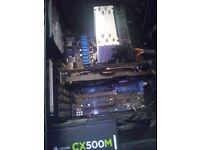 i7-3770k + 8 GB Corsair vengeance ddr3 + 212Evo CPU cooler + p8vz77 Motherboard