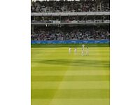 2 x England v India Lords Test match Cricket Tickets Day 3 Saturday
