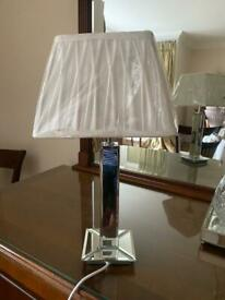 Mirrored lamp with shade - new